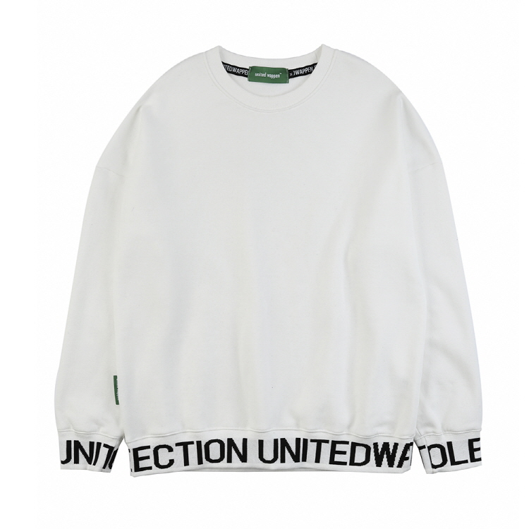 LINE UP OVERSIZE SWEATSHIRTS - WHITE