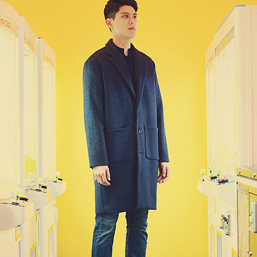 CHARLEY WOOL COAT - NAVY