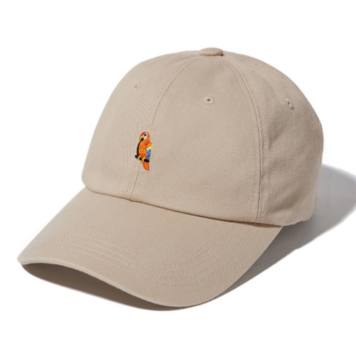 KANCO CURVED 6PANEL CAP - BEIGE