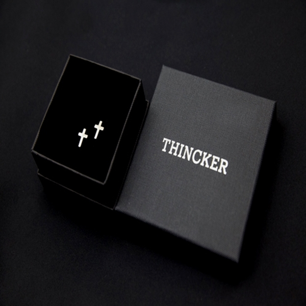 THINCKER CROSS PIERCING - SILVER
