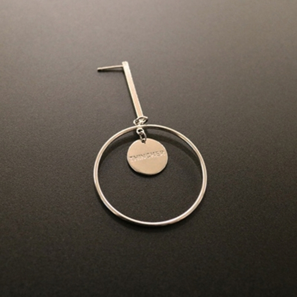 THINCKER CIRCLE STICK EARRING - SILVER