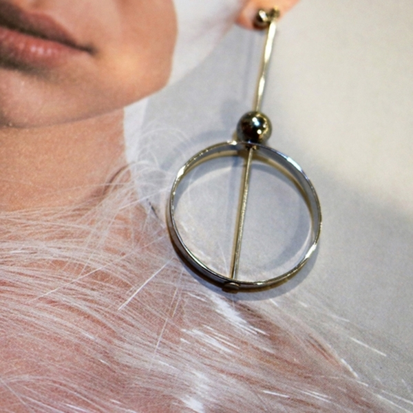 THINCKER CIRCLER EARRING /VER.2 - SILVER