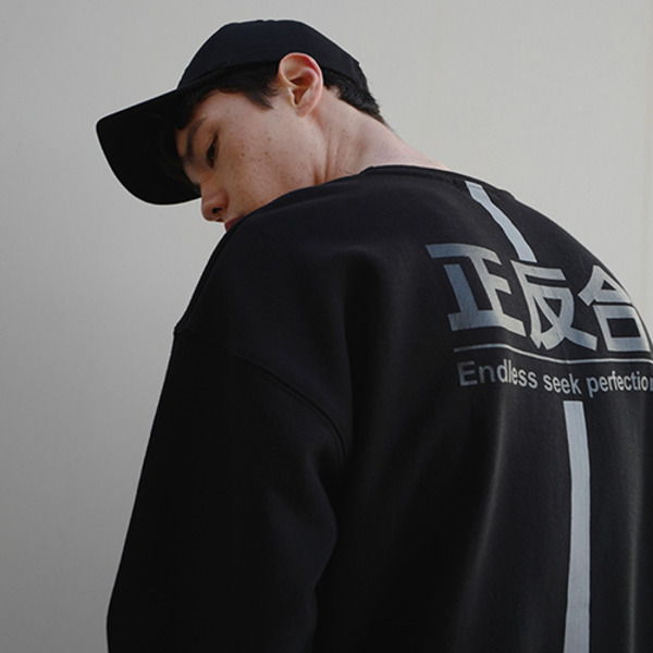 REFLECTIVE MATERIAL SWEAT SHIRT