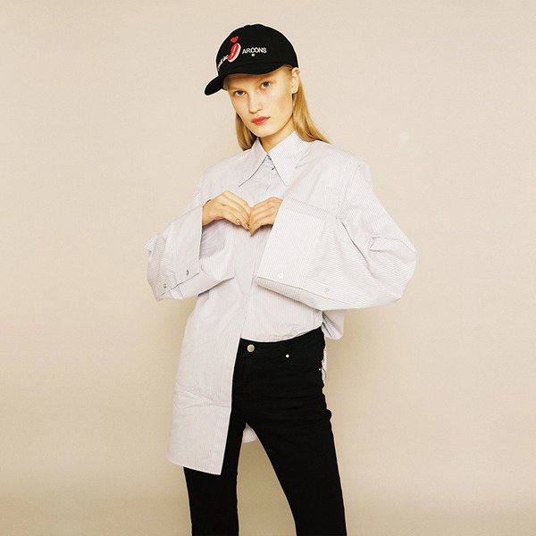 BIG SHOULDER SHIRT - WHITE