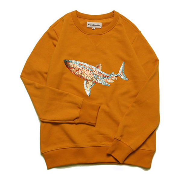 SPANGLE SHARK SWEAT(ORANGE)