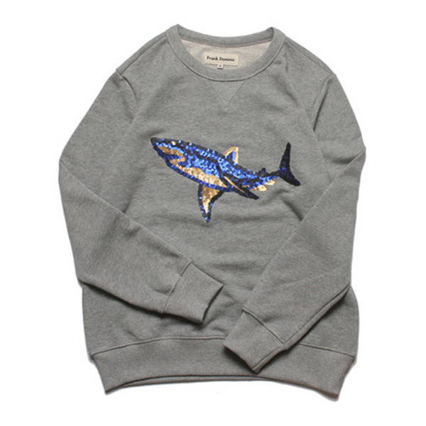 SPANGLE SHARK SWEAT(GRAY)