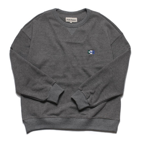 SHARK ICON OVERSIZE SWEAT(CHARCOAL)