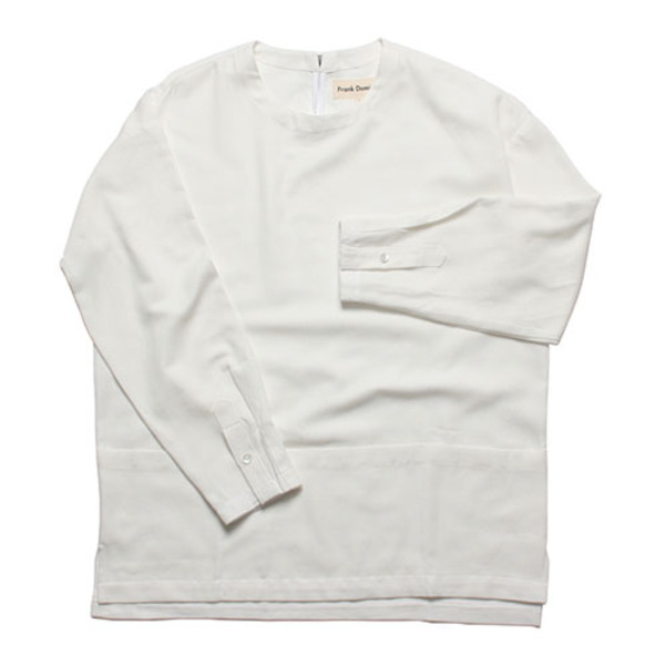 BUCKLE PULLOVER SHIRT(WHITE)