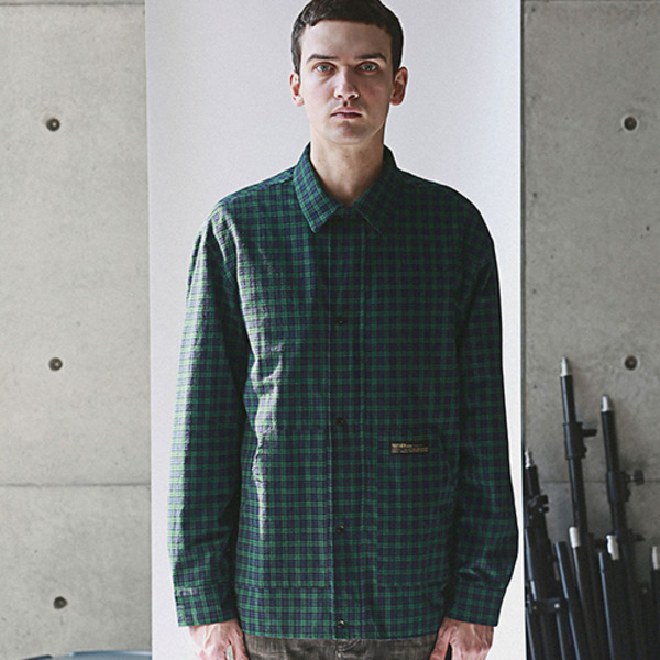 RANIEL CHECK SHIRT GREEN