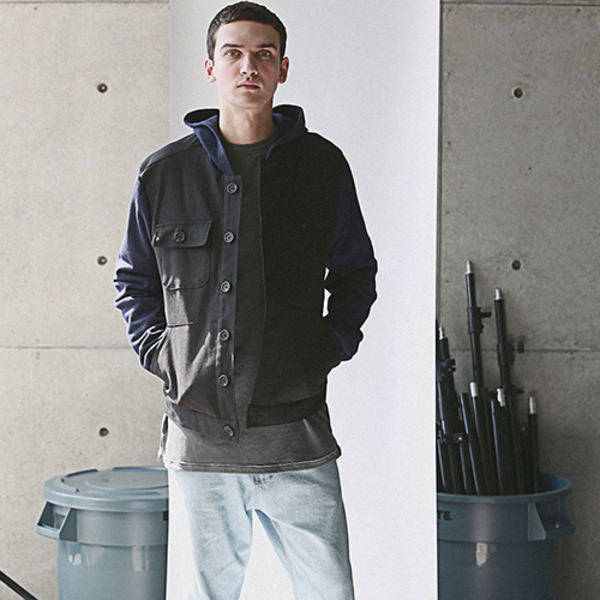 EASY HOOD JACKET NAVY
