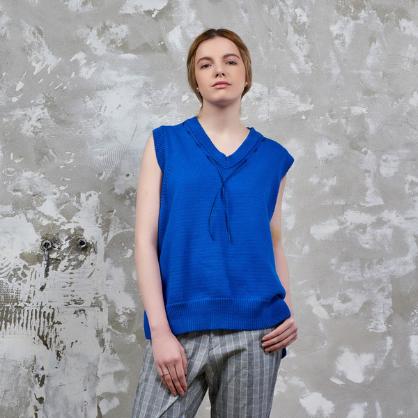 SINGLET KNIT - ROYAL BLUE