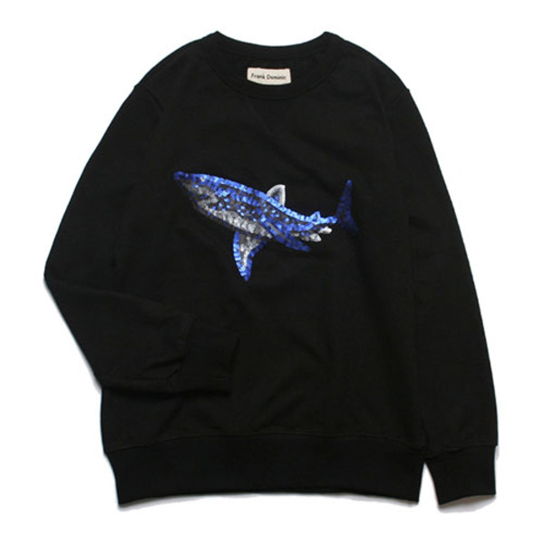 SPANGLE SHARK SWEAT(BLACK)