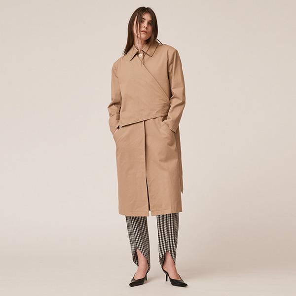 BELT TRENCHCOAT - LIGHT SAND