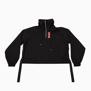 Name logo half zip-up (Black)