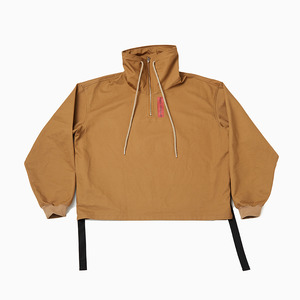 Name logo half zip-up (Brown)
