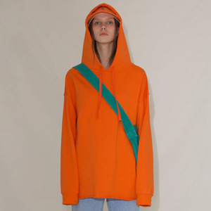 LABEL HOOD TOP - ORANGE