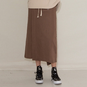STRING LONG SKIRT - BROWN
