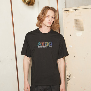 EMBROIDERY COLOR T-SHIRT_BLACK