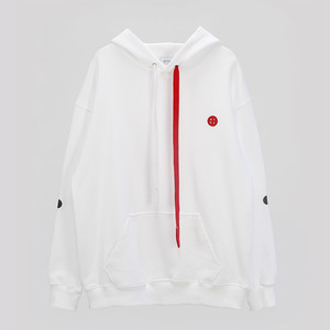 Elbow Point Hoodie Sweatshirt - WHITE