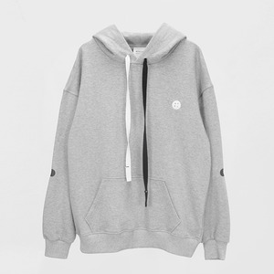 Elbow Point Hoodie Sweatshirt - MELANGE GREY