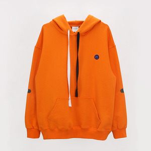 Elbow Point Hoodie Sweatshirt - ORANGE