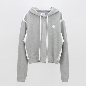 Line drawing Print Hoodie Sweatshirt - MELANGE GREY