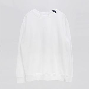 Ribbon point Basic Sweatshirt - WHITE