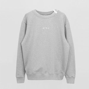 Ribbon point Basic Sweatshirt - MELANGE GREY