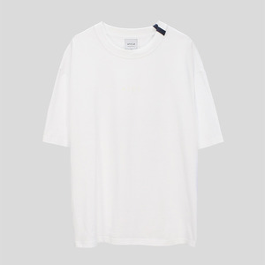 Ribbon point T-shirt - WHITE
