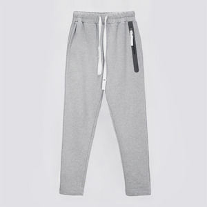 Welding Zip Baggy Fit Sweatpants - MELANGE GREY