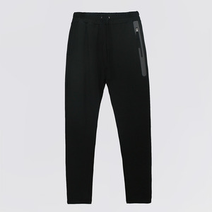 Welding Zip Baggy Fit Sweatpants - BLACK