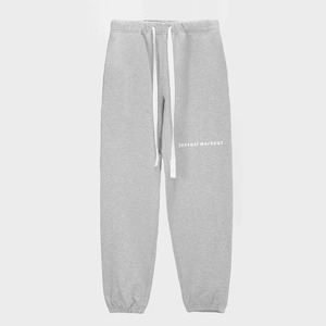 Ribbon Tape Point Basic Sweatpants - MELANGE GREY