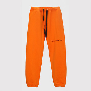 Ribbon Tape Point Basic Sweatpants - ORANGE