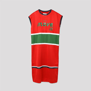 Basketball Mesh Dress - RED