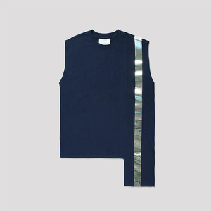 Color Block Sleeveless Top - NAVY