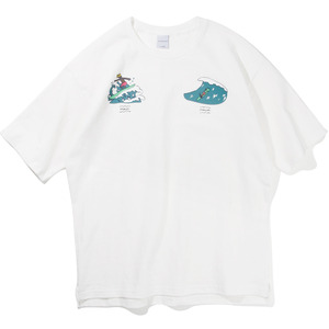 10`s Overfit Souvenir surfing T-shirts Off-white