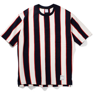 16`s Overfit vertical stripe t-shirts navy/red