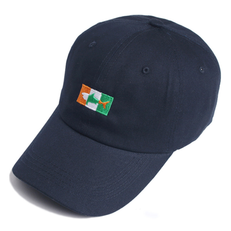 SHARK ICON BALL CAP(NAVY)