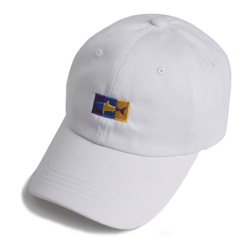 SHARK ICON BALL CAP(WHITE)