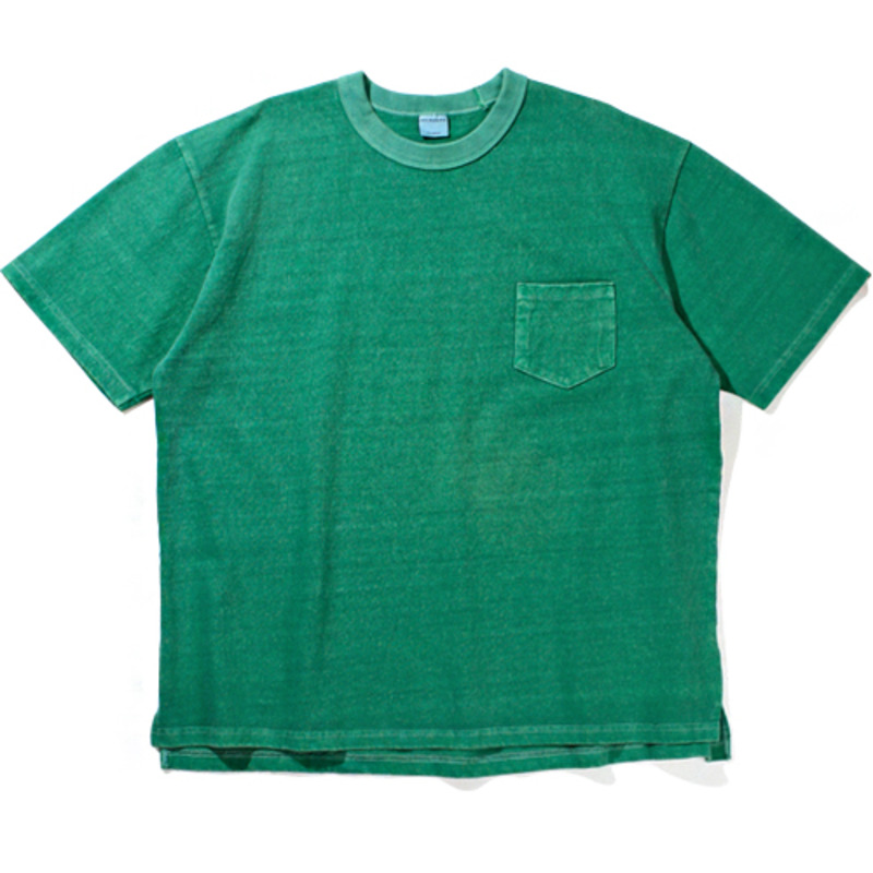10`s Overfit Pigment pocket T-shirts Green