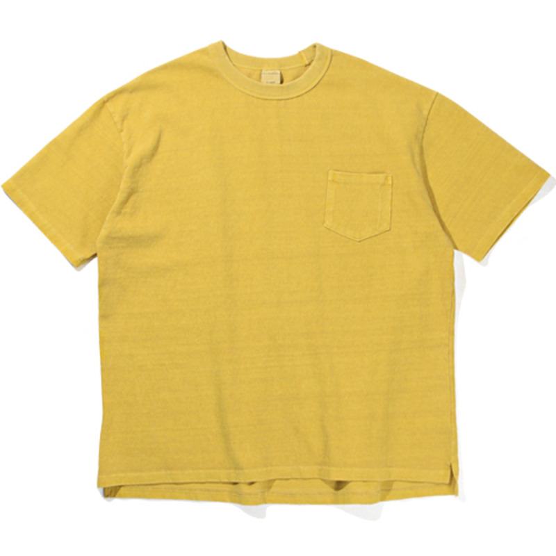 10`s Overfit Pigment pocket T-shirts Yellow