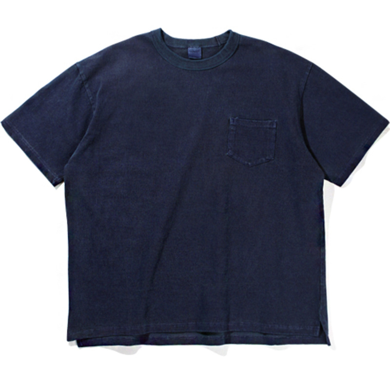 10`s Overfit Pigment pocket T-shirts Navy
