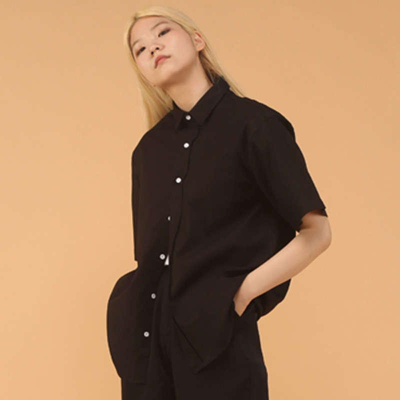 Black over shirt - woman