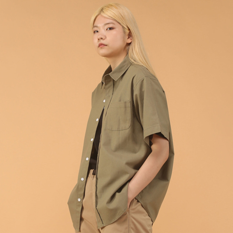 Khaki over shirt - woman