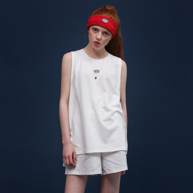 MOL LOGO SLEEVELESS - WHITE