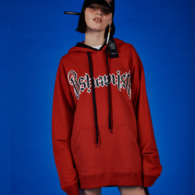 LOGO GRAPIC HOOD-RED