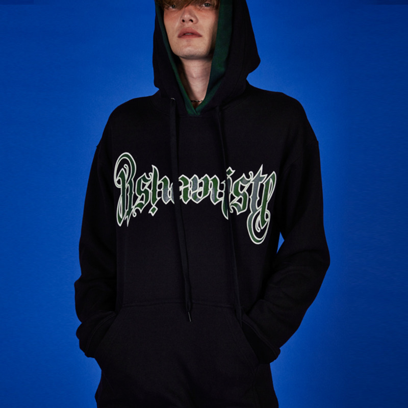 LOGO GRAPIC HOOD-BLACK