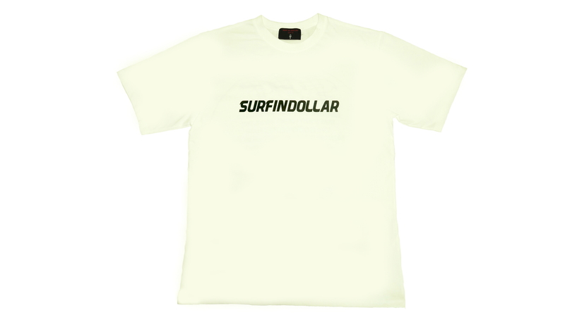 DOLLAR SIGN NAME LOGO T-SHIRTS (White)