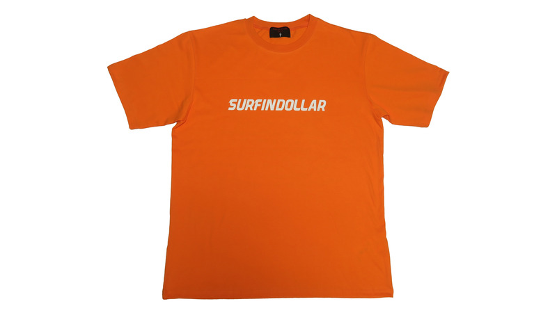 DOLLAR SIGN NAME LOGO T-SHIRTS (Orange)