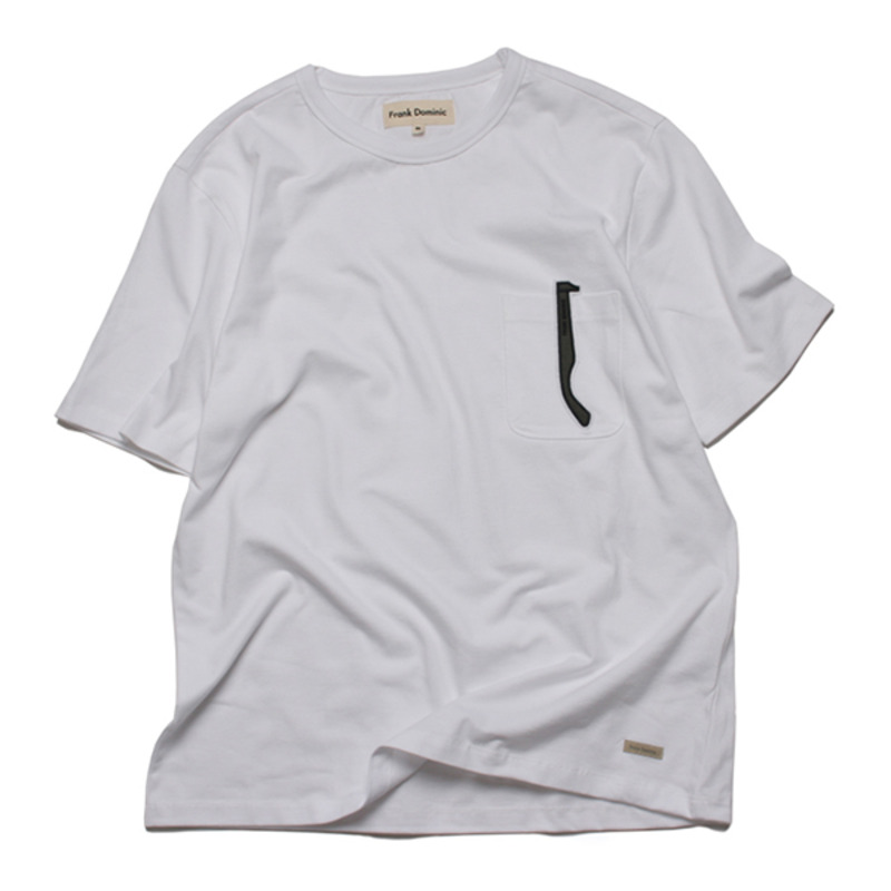 FD SUNGLASS POKET T-SHIRT(WHITE)